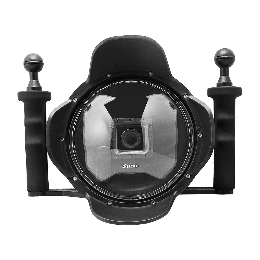 Andoer Shoot 6インチ透明Diving Underwaterドームポートハンドヘルドスタビライザーグリップ写真とカメラレンズ魚眼レンズ広角レンズシェルfor GoPro hero4 / 3 + / 3   B01LPUVFB6