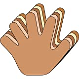 Hand Large Multicultural Creative Cut-Out