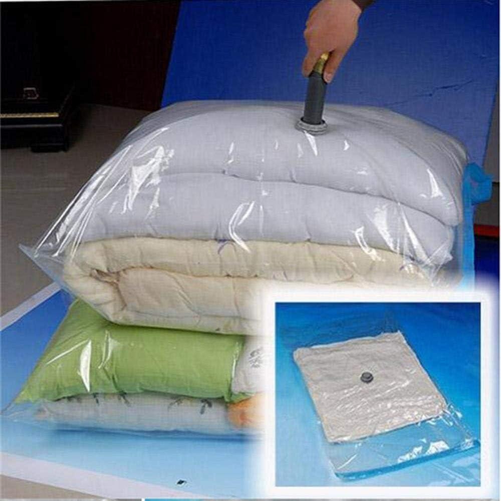 HMX Aspirar Bolsa de plástico Transparente, Reutilizables Bolsillos de compresión sellados,90x110cm