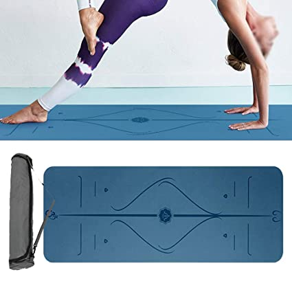 Estera de yoga 4 mm de espesor antideslizante Pu de doble ...