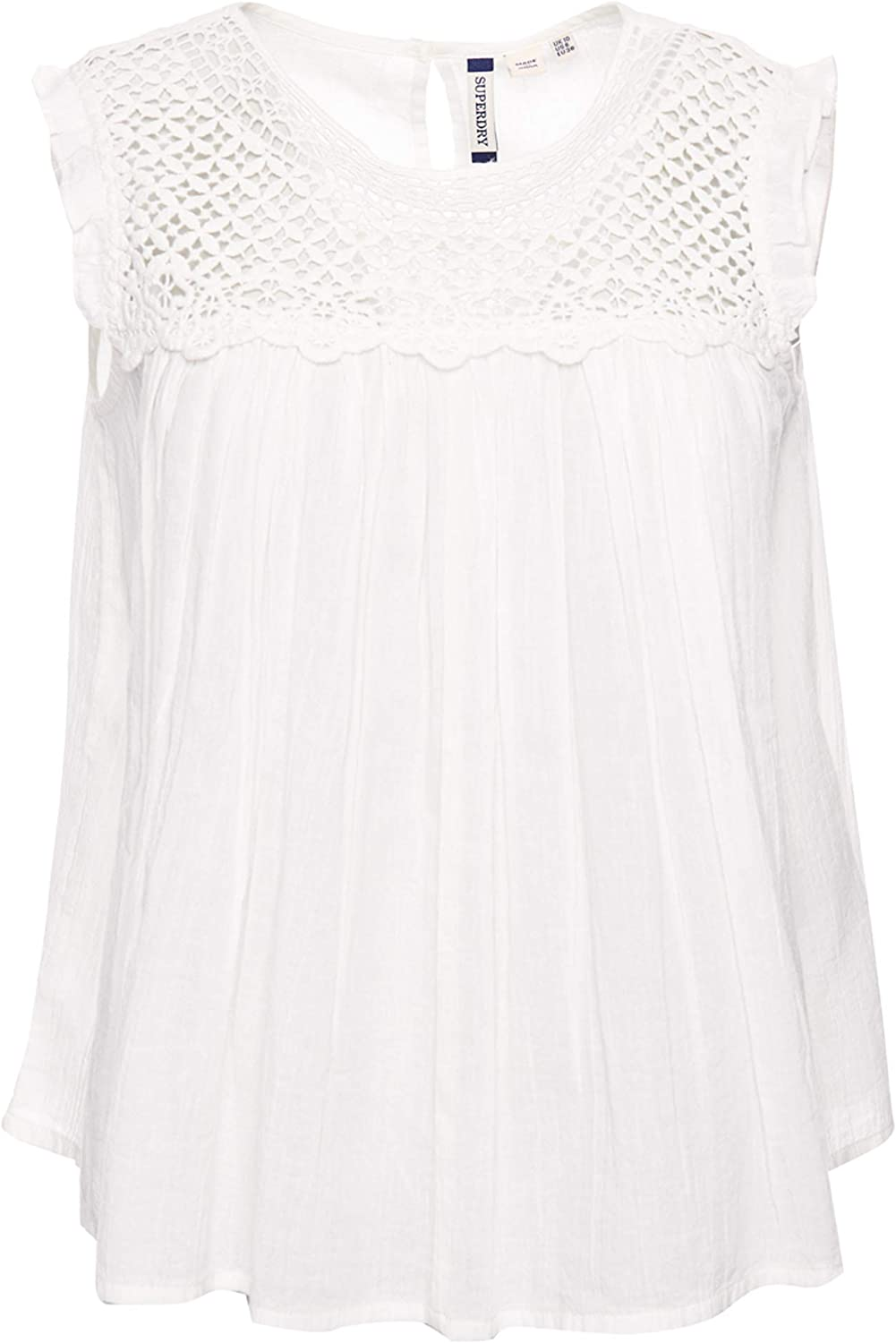 Superdry Ellison Textured Lace Vest Top