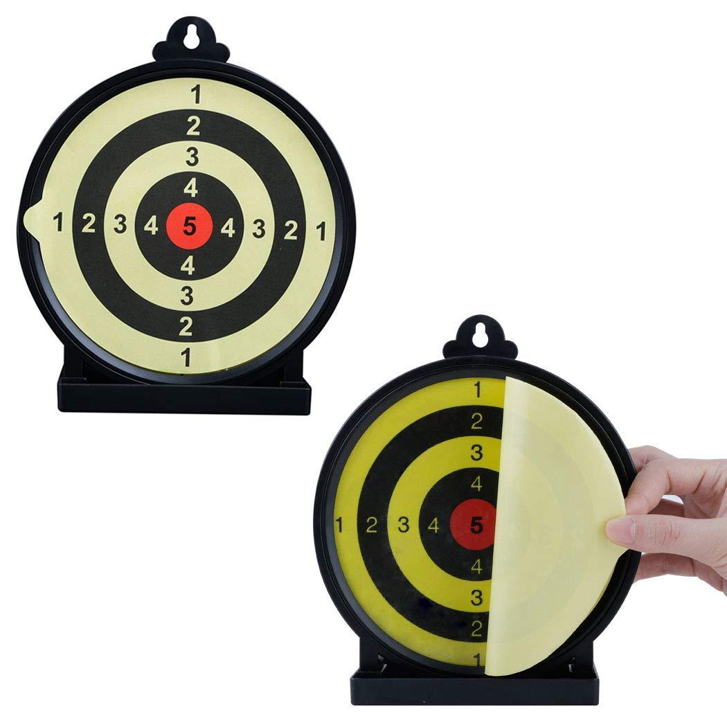 6 Pulgadas dianas de Disparo Autoadhesivas con Anillos de puntuaci/ón Aoutacc Airsoft Blanco Adhesivo