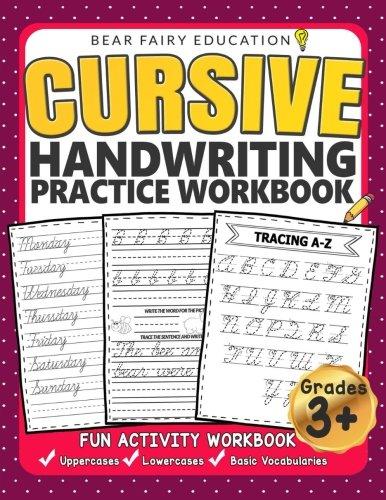 Cursive Handwriting Practice Workbook for 3rd 4th 5th Graders: Cursive writing book, Alphabet Cursive Tracing Book, Cursive handwriting workbook for kids (Loops Handwriting)