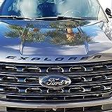 all black ford emblem - NEW Ford Licensed 2011-2017 Ford Explorer Sport GLOSS BLACK Hood Letters Emblem