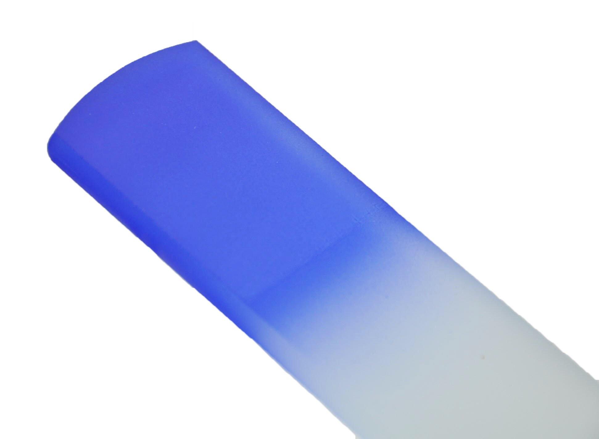 Genuine Czech Cobalt Blue Crystal Glass 6 1/4 inch Spa Bar Slab Foot File