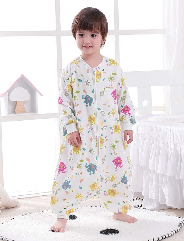 Happy Cherry Gigoteuse /à Jambes Enfant Grenouill/ère Fille Gar/çon Combinaison Pyjama Sac de Couchage /Ét/é Turbulette B/éb/é Douillette /à Manche Court//Longue