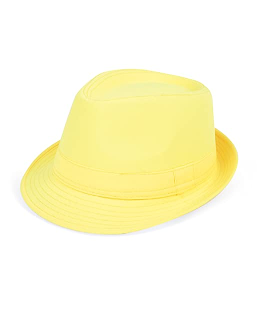 Solid Color Ladies Pastel Colored Fedora Hats (Yellow) at Amazon ... a3405042865
