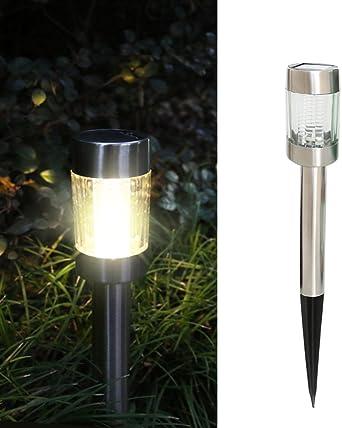 aihome LED Lámparas solares para el jardín agua Densidad Paisaje Pathway lámpara exterior solar jardín lámpara con estaca para terraza, césped, Patio, Aceras, fácil instalación sin hilos: Amazon.es: Iluminación