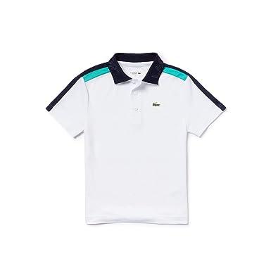 963ca5ab Lacoste Boys DJ1333 Classic Polo Shirt - White - 16 Years: Amazon.co.uk:  Clothing