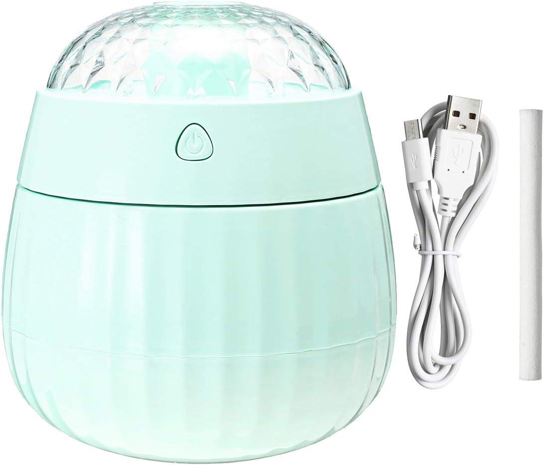 PANGUN 380ml Humidificador Ultrasónico Purificador De Aire Difusor De Aroma Nebulizador De Habitación Lámpara Led-Azul