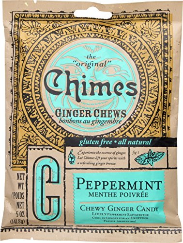 (Chimes Ginger Chews Peppermint, 5 oz (Pack of 2))