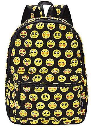 Amazon.com   Coofit Cute Emoji Backpack for Kids Cool Backpack ...