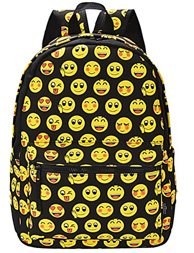 coofit-cute-emoji-backpack-for-kids-cool-backpack-purse-book-bag-school-bag-black