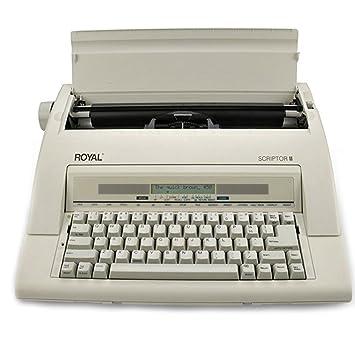 Royal(R) Scriptor II 69147T - Máquina de escribir electrónica, color gris: Amazon.es: Electrónica