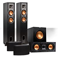 "Klipsch Reference 5.1 Channel R-24F Surround Home Theater Speaker Bundle with 12"" Subwoofer (Black)"