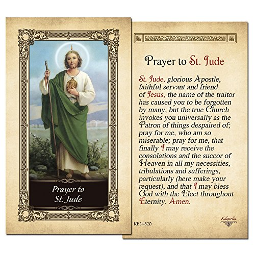 St.Jude Laminated Holy Card - Pack of 3