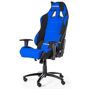 AK Racing Prime K7018 Juegos Silla, Tela, Negro/Azul P, Tela, Negro/Azul, 56x54x14.2 cm: Amazon.es: Hogar