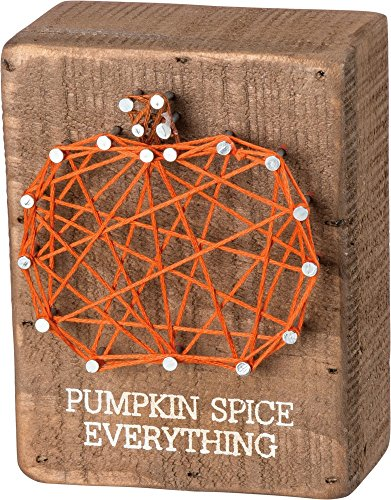 Primitives By Kathy String Box Sign - Pumpkin -