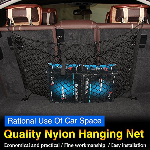 JessicaAlba Trunk Cargo Net (Black) for Benz Toyota Mazda Audi Subaru Forester Outback Ford Edge Escape Expedition Explorer Flex Focus Fusion Windstar (Cargo Net Prius V compare prices)