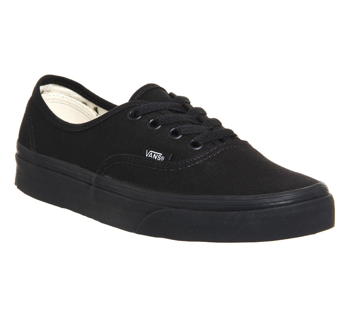 Vans Authentic Unisex Skate Trainers Shoes B00ML0ZB9W 8.5 M US Women / 7 M US Men|Black/Black