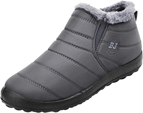SIKAINI Womens Mens Ankle Snow Boots