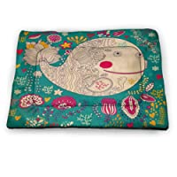 DayDayFun Whale Pad Pet Happy Big Smiling Cartoon Design Huge Whale with Modern...