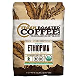 Organic Ethiopian Natural Sidamo Fair Trade Coffee, Whole Bean Bag, Fresh Roasted Coffee LLC. (5 LB.)