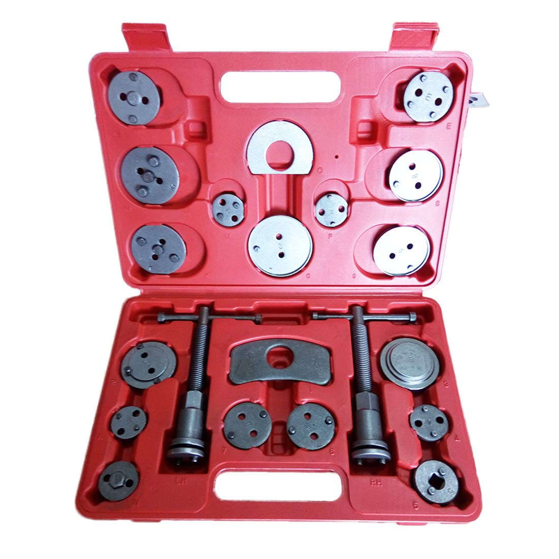 Auto DN Universal 21pcs Heavy Duty Disc Brake Caliper Compressor Tool Set and Piston Compression Sets Fits Almost All Cars