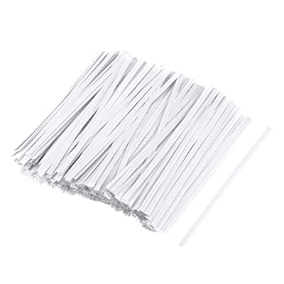 uxcell Long Strong Paper Twist Ties 3.15 Inches Quality Tie for Tying Gift Bags Art Craft Ties Manage Cords White 1000pcs: Home Improvement