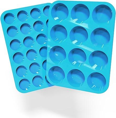 Amazon.com: Lucentee - Juego de 2 moldes de silicona para ...