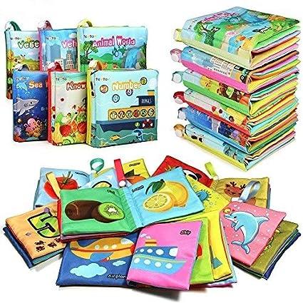 TEYTOY NEWEST 6pcs Libros blandos de Tela No Tóxica Set para Bebé, Juguete de Educación
