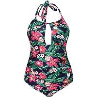 Bañador con Cuello Halter para Mujer, Cimaybo, una Pieza de baño de una Pieza, Cintura sin Respaldo, Ropa de Playa