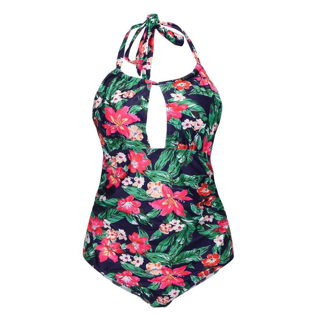 Karoleda/_Swimwear One Piece Swimsuits for Women Slimming Monokini Swimwear Bathing Suits Halter Bikini Set