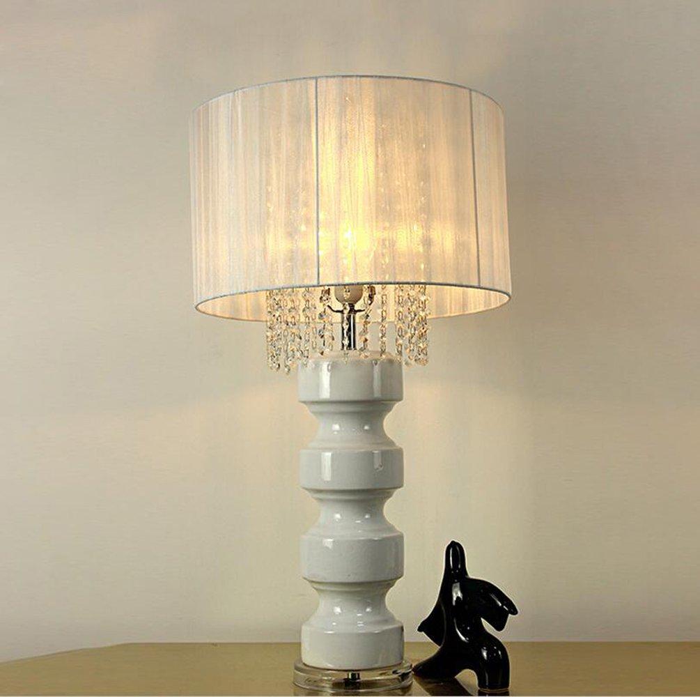 Im europäischen Stil Luxus-Retro-Keramikgewebe Wohnzimmer Tischlampe Schlafzimmer