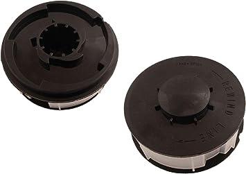 Bobina de hilo de 1,6 mm (2 unidades) compatible con desbrozadora Greencut GT300CH-3: Amazon.es: Bricolaje y herramientas