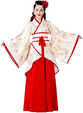 Amazon Com Springcos Chinese Costume Women Cosplay Fancy Dress