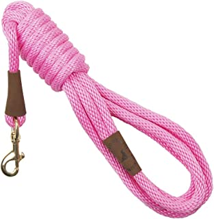 product image for Mendota Pet Long Snap Leash - Dog Training Lead - Made in The USA - Pink, 3/8 in x 15 ft
