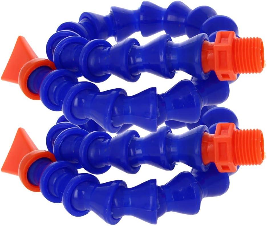Utoolmart Flexible Coolant Pipe,G1//4 Thread Flat Nozzle Flexible Water Oil Coolant Pipe Hose 300mm Length 1Pcs