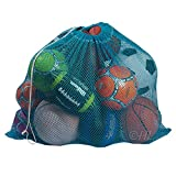"""Mesh Equipment Bag - 32"""" x 36"""" and 24"""" x 36"""" - Adjustable, sliding drawstring cord closure. Perfect mesh bag for parent or coach, making it easy to transport and keeping your sporting gear organized."""
