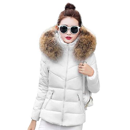 Ranboo Chaquetas de algodón Down de Winter Women con capucha Coat Abrigos