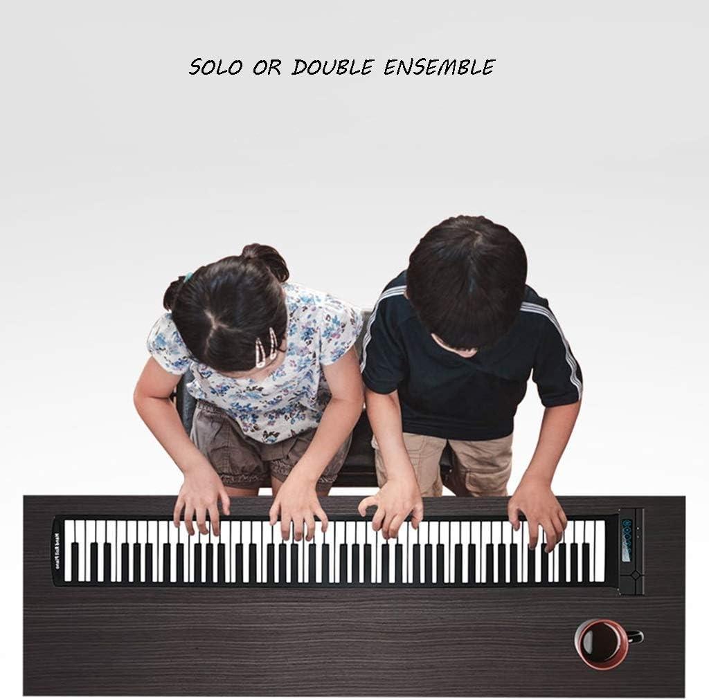 DISS Teclado de Piano electrónico Flexible Enrollable ...