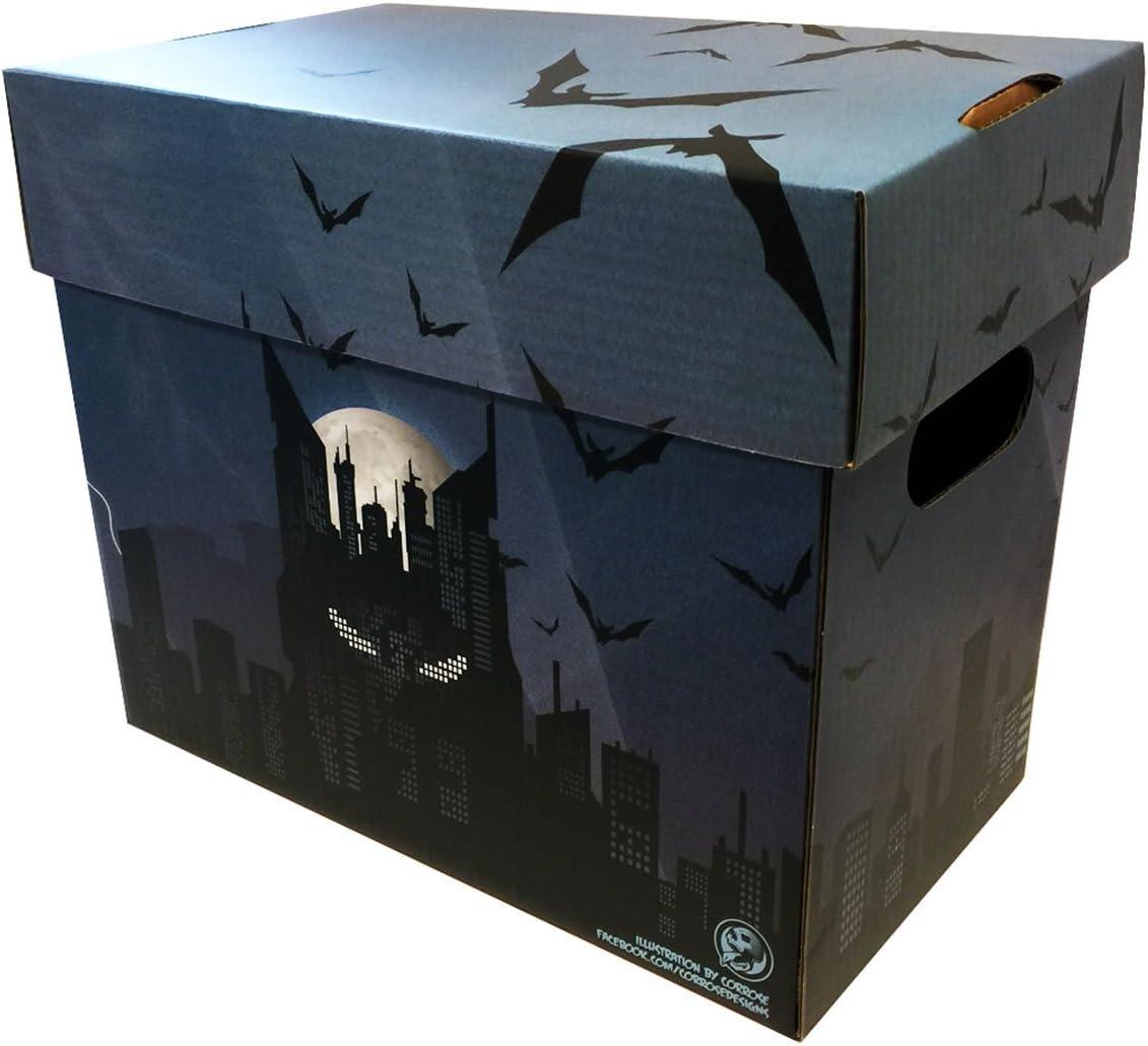 Caja de almacenamiento de cajas en acción – cómic de Batman orzuelo arte corto oscuro Skyline: Amazon.es: Oficina y papelería