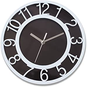 """Amazing Silent Wall Clock, 8"""" White Bezel Arabic Numerals Decor Wall Clock with Non-ticking Movement and Battery Operated for Kitchen/Bedroom/Living Room"""