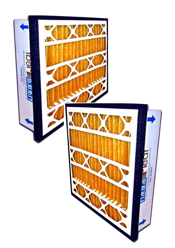 Filtration Manufacturing Practical Pleated Air Filter (2-Pack) - 12'' x 24'' x 5''