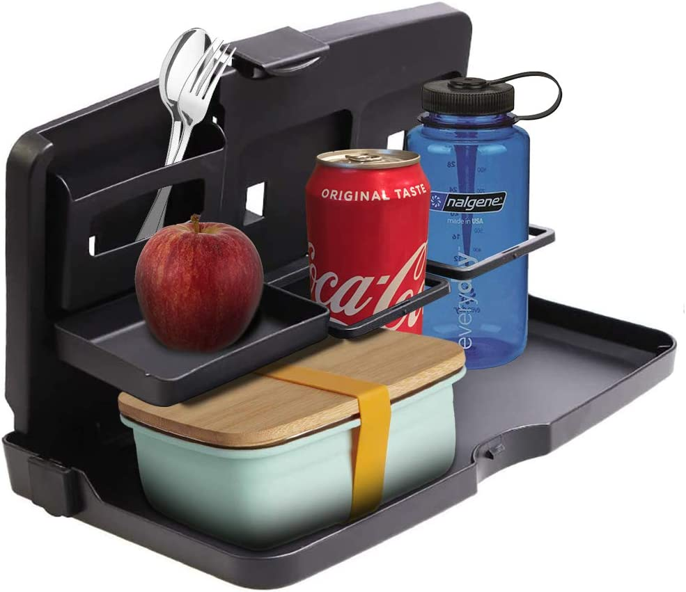 VaygWay Car Food Tray Holder – Auto Food and Drink Tray – Eating Organizer Backseat Car Tray – Kids Table Food Holder Desk