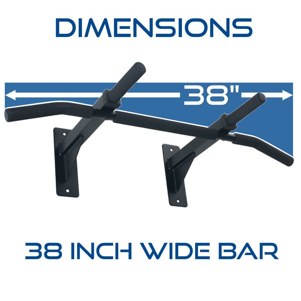 amazon com ultimate body press wall mounted pull up bar and