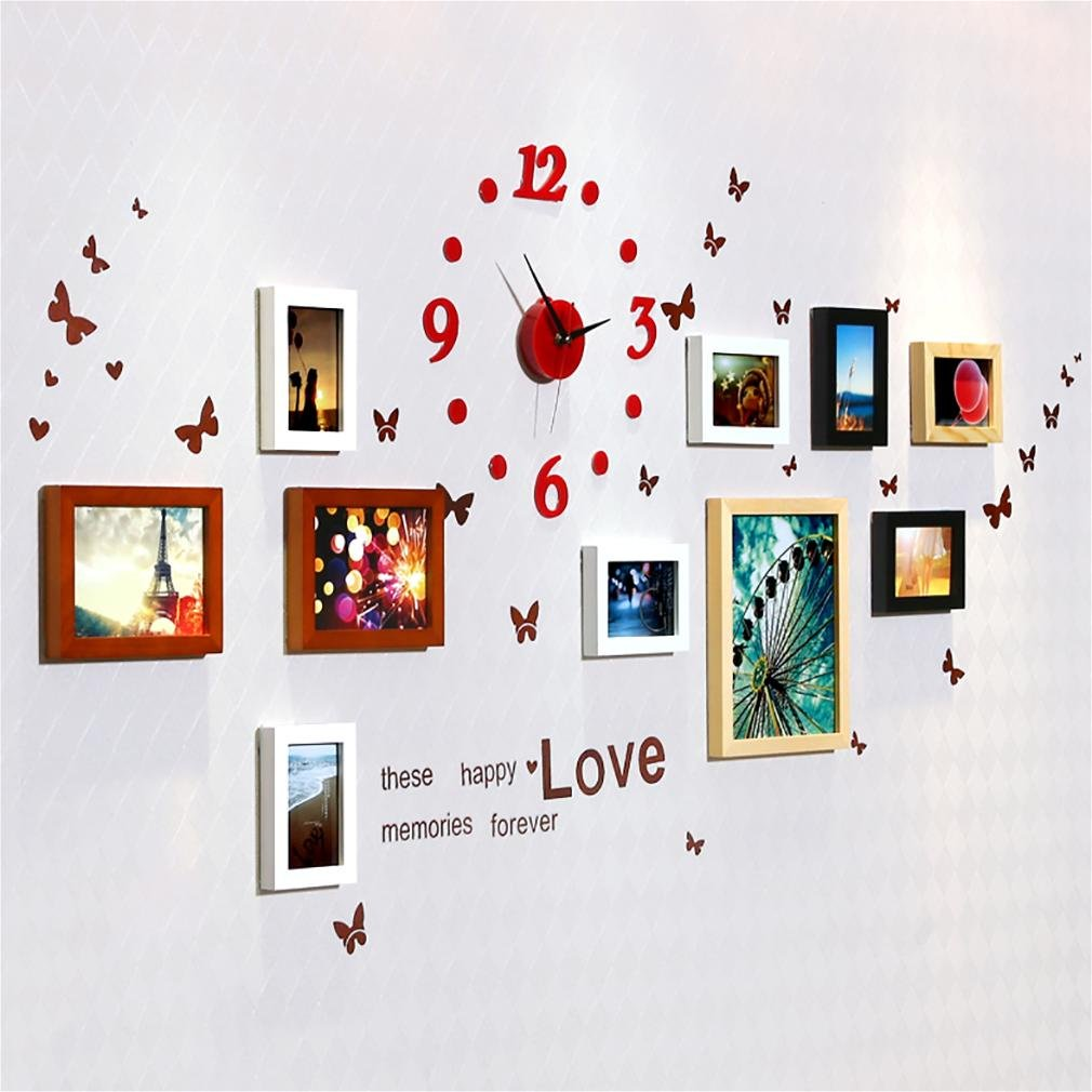 WillST Photo Frames Home Wall Decoration Wooden Frame Set Multi Picture Of 10pcs , a