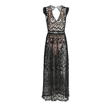 Yanick Mark Hollow out long dress vestidos de fiesta Vintage backless ruffle summer dress women Sexy