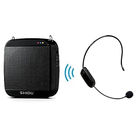 Amplificador de voz SHIDU SD-S613 (18 W) con batería de litio de 1200 mAh y ...