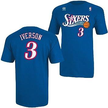 Adidas Philadelphia 76ers Allen Iverson Sixers Throwback T Shirt, Azul Royal: Amazon.es: Deportes y aire libre